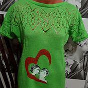 """Одежда ручной работы. Ярмарка Мастеров - ручная работа ассиметричная туника """"Сердце на двоих"""" .. Handmade."""