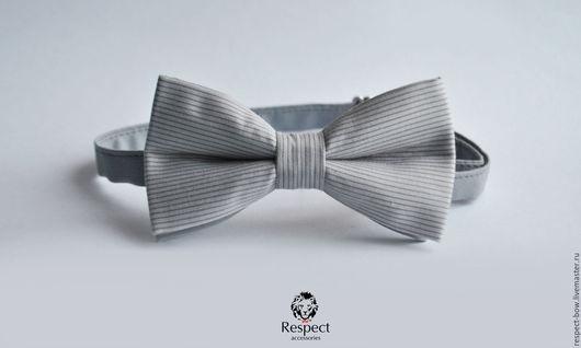 Галстуки, бабочки ручной работы. Ярмарка Мастеров - ручная работа. Купить Галстук бабочка Интеллигент / бабочка галстук серый в полоску купить. Handmade.