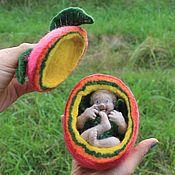 Для дома и интерьера handmade. Livemaster - original item Doll made of wool