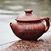 """Посуда ручной работы. Ярмарка Мастеров - ручная работа Чайник керамический """"Лощеный"""" 0,5 л. Handmade."""