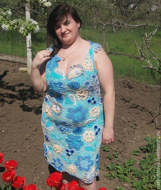 Dress knitted bloom Sundress Pinafore dress, Dresses, Nikolaev,  Фото №1