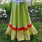 Одежда ручной работы. Ярмарка Мастеров - ручная работа №172 Льняная длинная юбка бохо. Handmade.