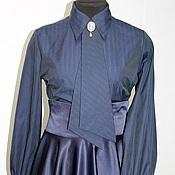 Одежда handmade. Livemaster - original item Blouse cotton tie