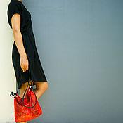 Классическая сумка ручной работы. Ярмарка Мастеров - ручная работа Сумка Paper bag из натуральной кожи питона. Handmade.