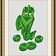 """Схема для вышивки крестиком """"Зелёный горошек"""", Вышивка, Александров, Фото №1"""