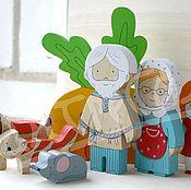 Куклы и игрушки ручной работы. Ярмарка Мастеров - ручная работа Сказка Репка.. Handmade.