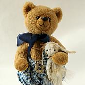 Куклы и игрушки ручной работы. Ярмарка Мастеров - ручная работа Мишка Тедди Мишка с Зайкой. Handmade.