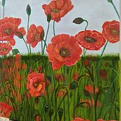 Картины и панно handmade. Livemaster - original item Field poppies. Handmade.