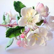 Цветы и флористика ручной работы. Ярмарка Мастеров - ручная работа Ветка яблони. Handmade.