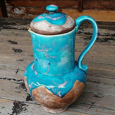 Посуда ручной работы. Ярмарка Мастеров - ручная работа Такой кувшин, с широким горлом, для заваривания трав. Handmade.