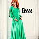 Платья ручной работы. Платье в пол зелёная трава. Dudu-dress. Ярмарка Мастеров. Травяной, красивое платье, платье с рукавами