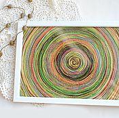 Картины и панно ручной работы. Ярмарка Мастеров - ручная работа Картина из ниток. Handmade.