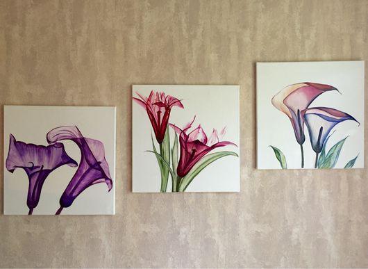 Картины цветов ручной работы. Ярмарка Мастеров - ручная работа. Купить Новый взгляд. Handmade. Цветы, масло