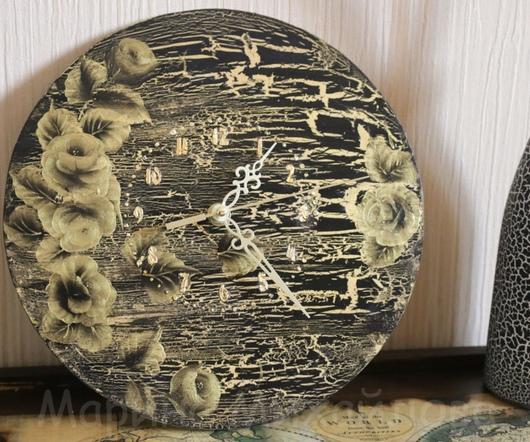 """Часы для дома ручной работы. Ярмарка Мастеров - ручная работа. Купить Часы настенные """"Я все успею"""". Handmade. Золотой, поталь"""