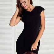 Платья ручной работы. Ярмарка Мастеров - ручная работа Элегантное черное платье с нежнейшим кружевом. Handmade.
