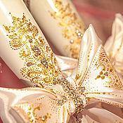 """Свадебный салон ручной работы. Ярмарка Мастеров - ручная работа Бокалы свадебные - """"королевские"""". Handmade."""