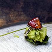 Украшения handmade. Livemaster - original item Amber ring with Natural Amber.. Handmade.