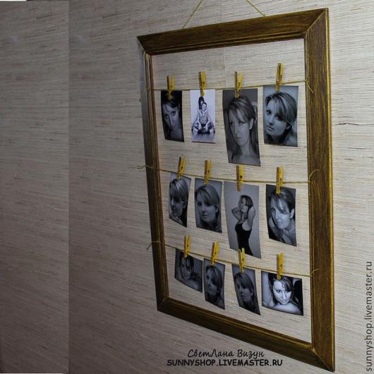 Подвески ручной работы. Ярмарка Мастеров - ручная работа. Купить Оформление стены дома, свадьбы или праздника фото в раме. Handmade.