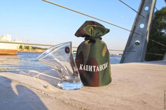 Отличный оригинальный подарок мужчине - пьяная рюмка Капитанская!