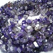 Материалы для творчества handmade. Livemaster - original item Amethyst, stone chippings, strands 20 cm (natural stone). Handmade.