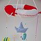 """Детская ручной работы. Ярмарка Мастеров - ручная работа. Купить """"Морской мир"""". Handmade. Мобиль, мобиль на кроватку, мобиль в подарок"""