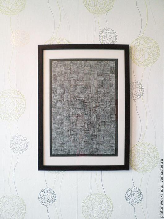"""Абстракция ручной работы. Ярмарка Мастеров - ручная работа. Купить Иллюстрация """"Стена жизни"""", бумага / тушь 60 х 42 см. Handmade."""