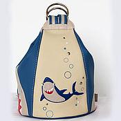 """Сумки и аксессуары ручной работы. Ярмарка Мастеров - ручная работа Сумка-рюкзак """"Акула"""". Handmade."""