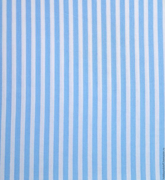 Шитье ручной работы. Ярмарка Мастеров - ручная работа. Купить Немецкий хлопок бело-голубая полоска. Handmade. Голубой