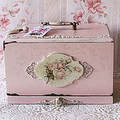 handmade. Livemaster - original item The bread bin shabby chic with a sliding Board for cutting,