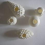 Украшения ручной работы. Ярмарка Мастеров - ручная работа Кольца для платков из фарфора-бисквит. Handmade.