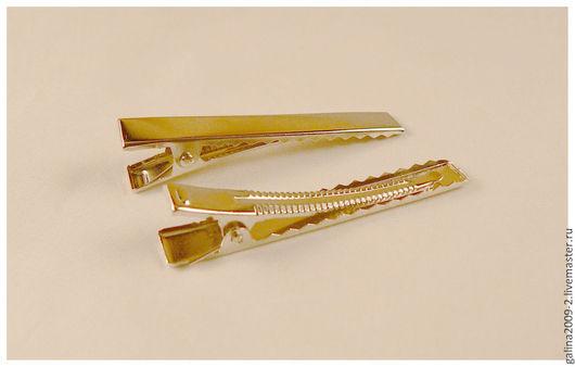 """Для украшений ручной работы. Ярмарка Мастеров - ручная работа. Купить Основа для заколки """"крокодильчик,"""" 57 мм.. Handmade."""