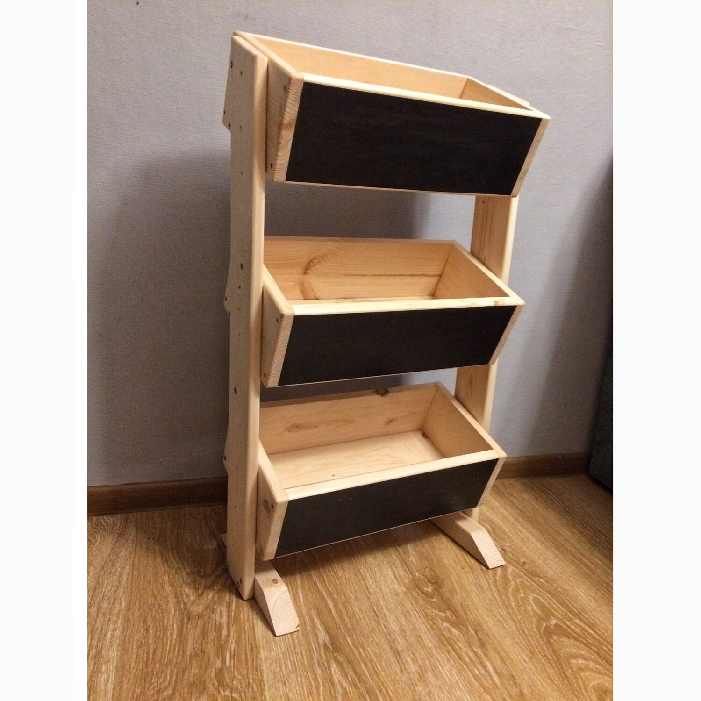 Estante de madera para las verduras y frutas - Madera para estantes ...
