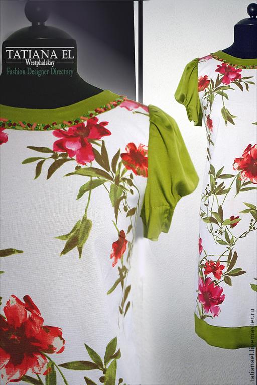 Платья ручной работы. Ярмарка Мастеров - ручная работа. Купить Цветок. Handmade. Летнее платье, платье, плотный хлопок