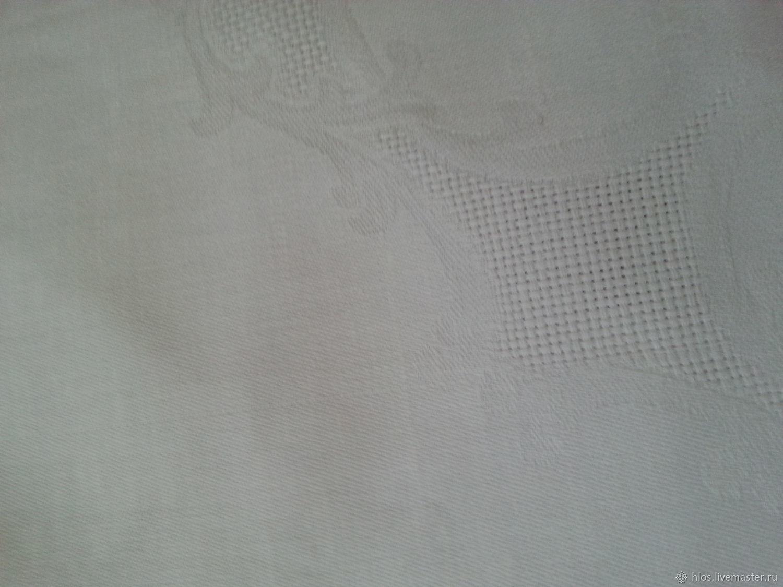 Текстиль, ковры ручной работы. Ярмарка Мастеров - ручная работа. Купить Скатерть льняная белая уценка. Handmade. Белый