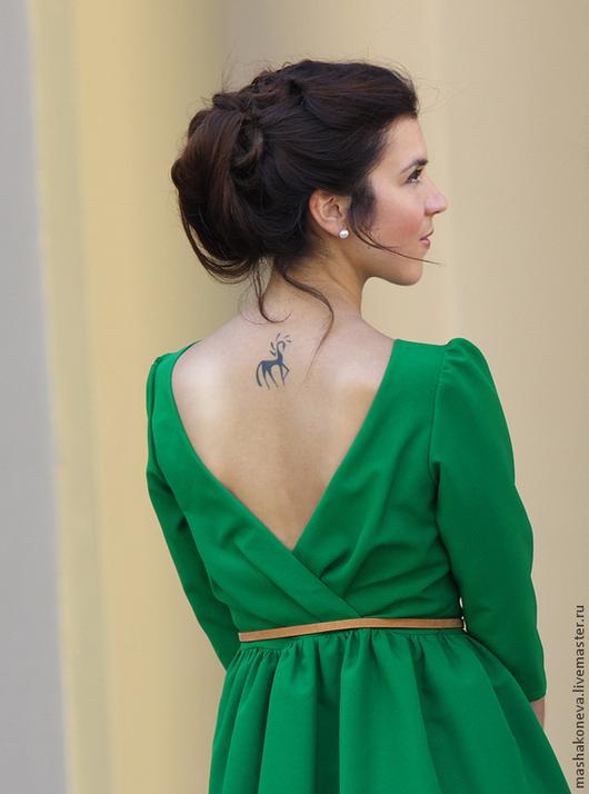 Зеленое платье `Подружка`. Masha Koneva