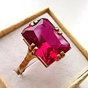 Кубачи! Серебряное кольцо 925 пробы Королевский рубин