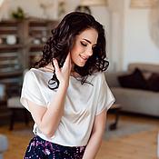 Одежда ручной работы. Ярмарка Мастеров - ручная работа Летняя Гармония (шелковая блузка). Handmade.