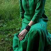 """Одежда ручной работы. Ярмарка Мастеров - ручная работа Платье льняное """"Green Meadow"""". Handmade."""