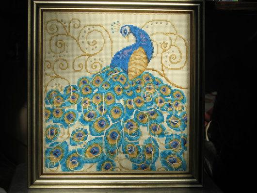 Животные ручной работы. Ярмарка Мастеров - ручная работа. Купить Птица счастья. Handmade. Голубой, золотой цвет, зеленый