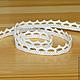 Шитье ручной работы. Ярмарка Мастеров - ручная работа. Купить 0221 Кружево хлопковое белое 10мм тесьма отделочная. Handmade.