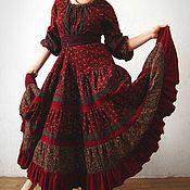 Бохо-платье Зимняя вишня