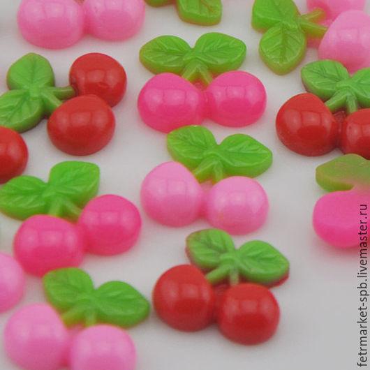 Другие виды рукоделия ручной работы. Ярмарка Мастеров - ручная работа. Купить Плоды вишни. Handmade. Розовый, кабошоны