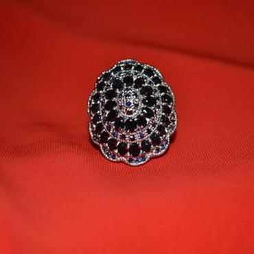 Украшения ручной работы. Ярмарка Мастеров - ручная работа Крупный перстень с натуральными сапфирами. Handmade.