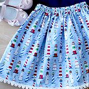 Одежда ручной работы. Ярмарка Мастеров - ручная работа Юбка из американского хлопка МАЯКИ. Handmade.