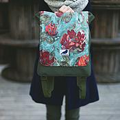 Сумки и аксессуары ручной работы. Ярмарка Мастеров - ручная работа ранец рюкзак портфель для города хаки. Handmade.