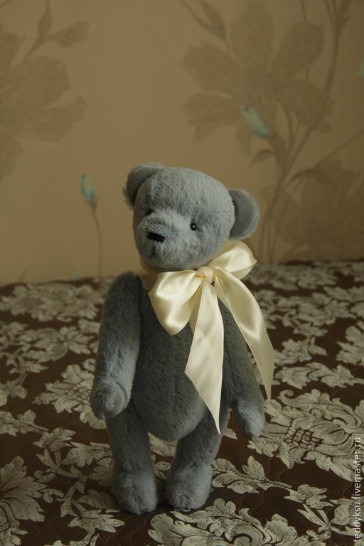 Мишки Тедди ручной работы. Ярмарка Мастеров - ручная работа. Купить Мишка тедди Эдуард. Handmade. Голубой, teddy bear