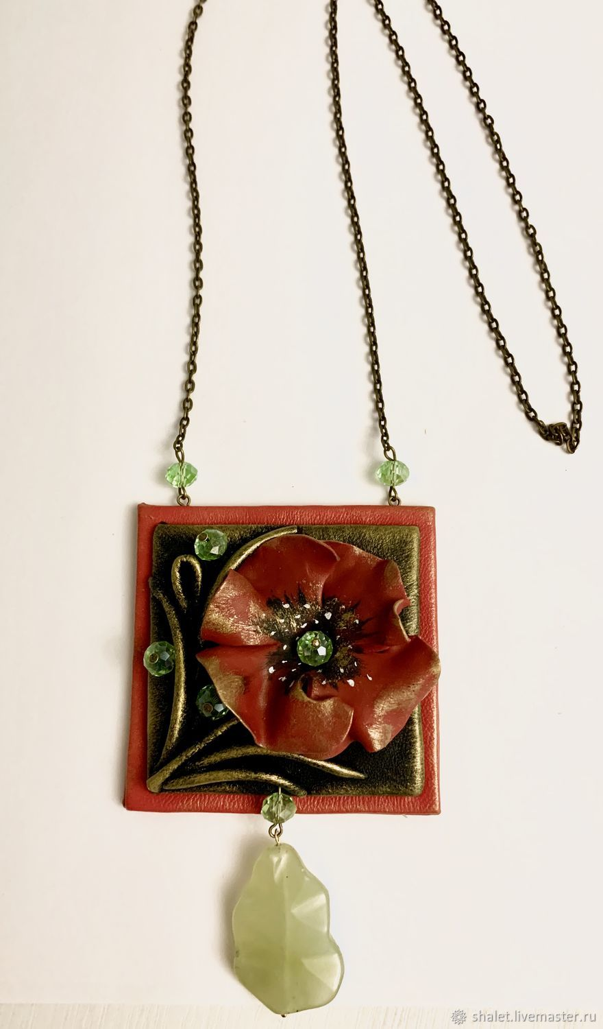 Suspension from the series of POPPIES COLOR, Pendants, Kaluga,  Фото №1