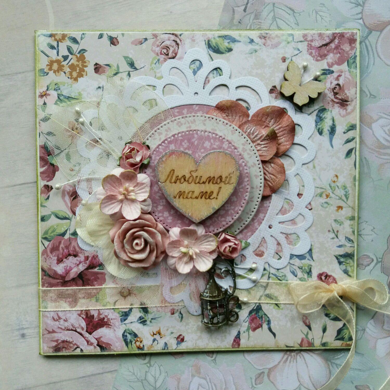 Мастер класс скрапбукинг открытка для мамы