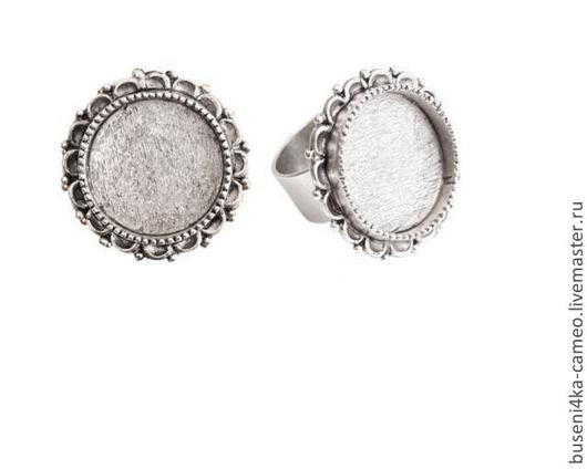 Для украшений ручной работы. Ярмарка Мастеров - ручная работа. Купить Основа для кольца Винтаж 20мм, ND античное серебро (1шт). Handmade.