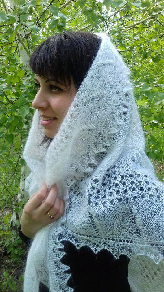 Shawls & Stoles handmade. Livemaster - handmade. Buy 72 Klondike downy Snow -the snow, the downy shawl, accessories,scarf.